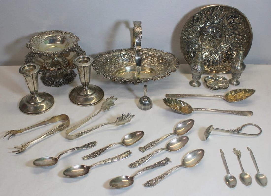 SILVER. Grouping of Assorted Sterling and Silver.