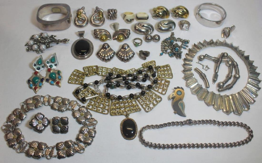 JEWELRY. Large Grouping of Assorted Silver Jewelry