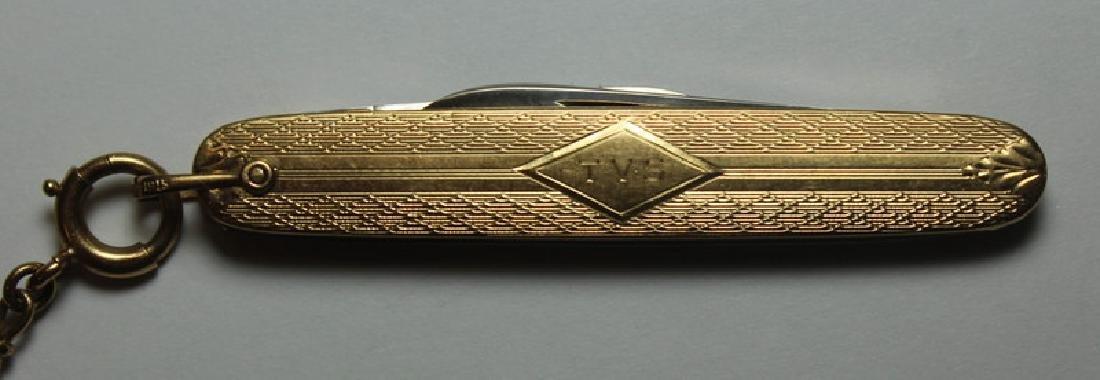 JEWELRY. Hamilton 14kt Gold Open Face Pocket Watch - 10