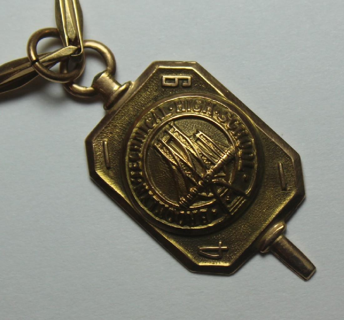 JEWELRY. Hamilton 14kt Gold Open Face Pocket Watch - 8
