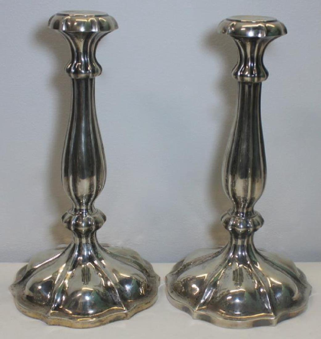 SILVER. Pair of Austro-Hungarian Silver Candelabra - 2