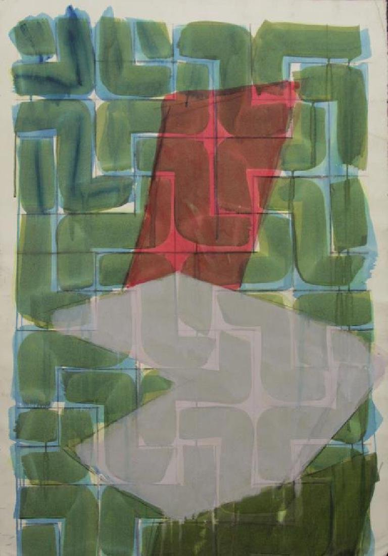 SMITH, Richard. Watercolor. Untitled (Abstract).