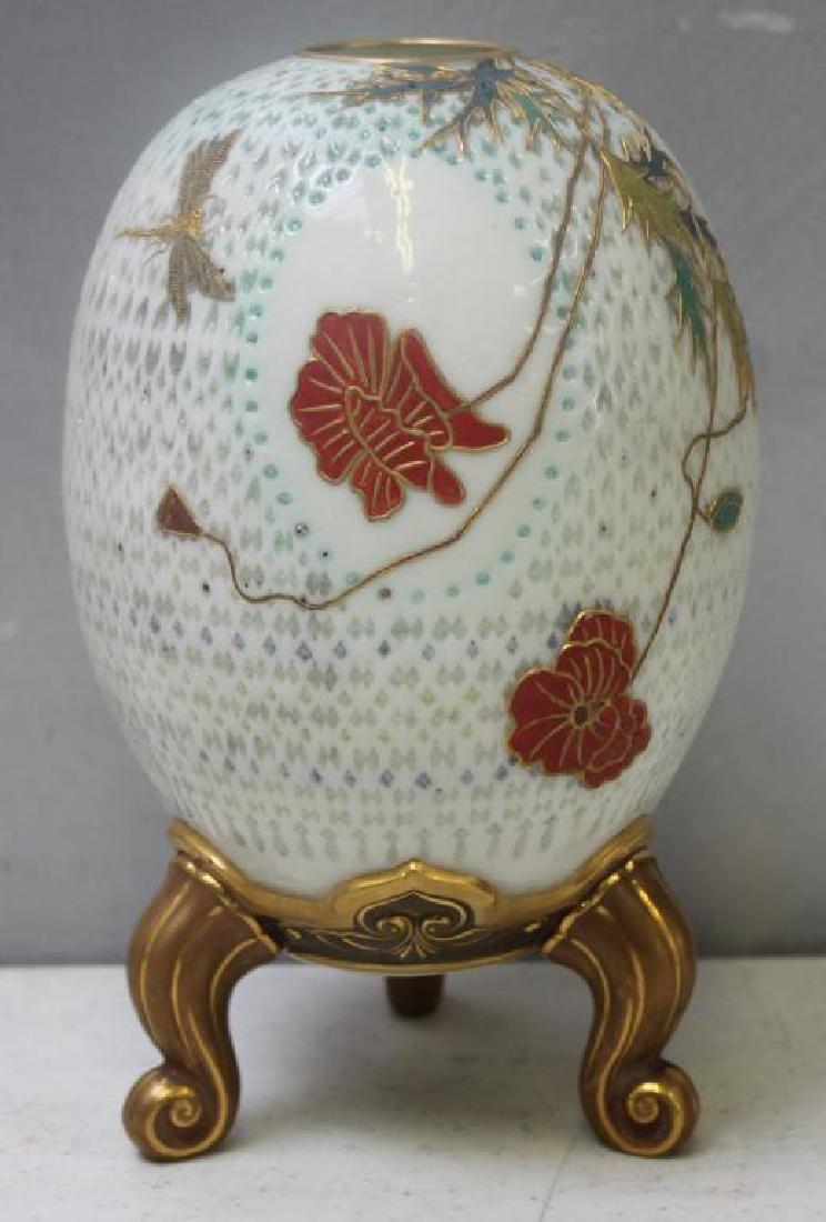 Royal Worcester Eggshell Porcelain Footed Vase.