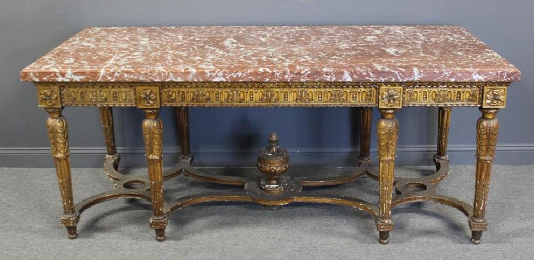 Large and Impressive Louis XVI Marbletop Console. - 2