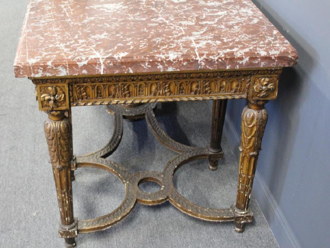 Large and Impressive Louis XVI Marbletop Console. - 4