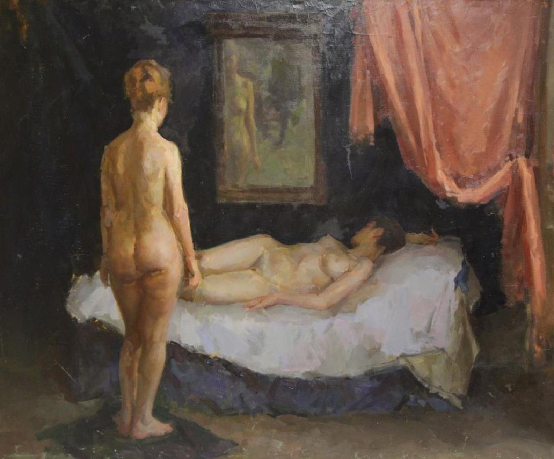 SMIRNOV, Andre. Oil on Canvas. Two Nudes in Repose