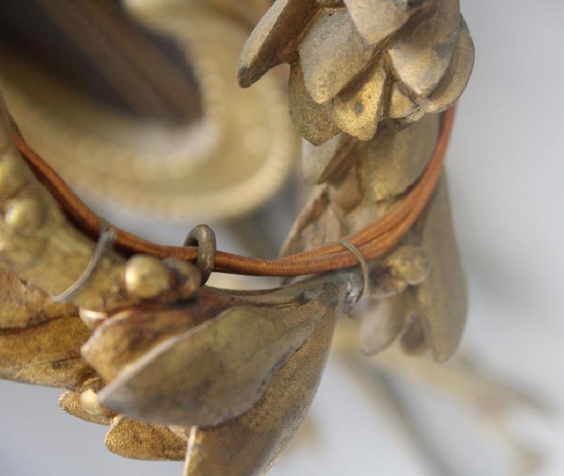 Pair Of Antique 4 Arm Gilt Bronze Lyre Form - 6
