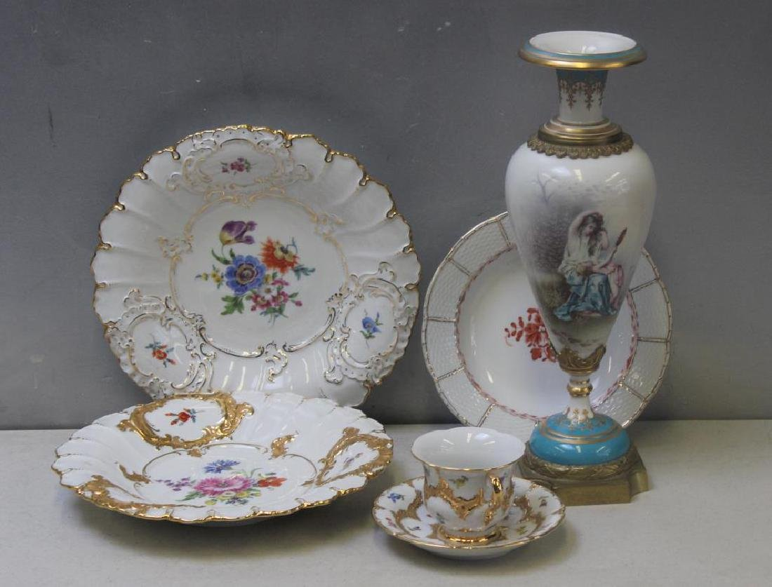 Grouping Of Meissen Porcelain Together with a
