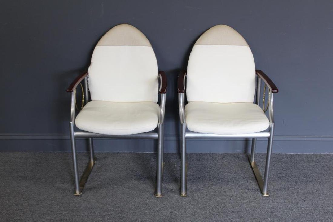 MIDCENTURY. Pair of Memphis Style Brass and Steel - 2