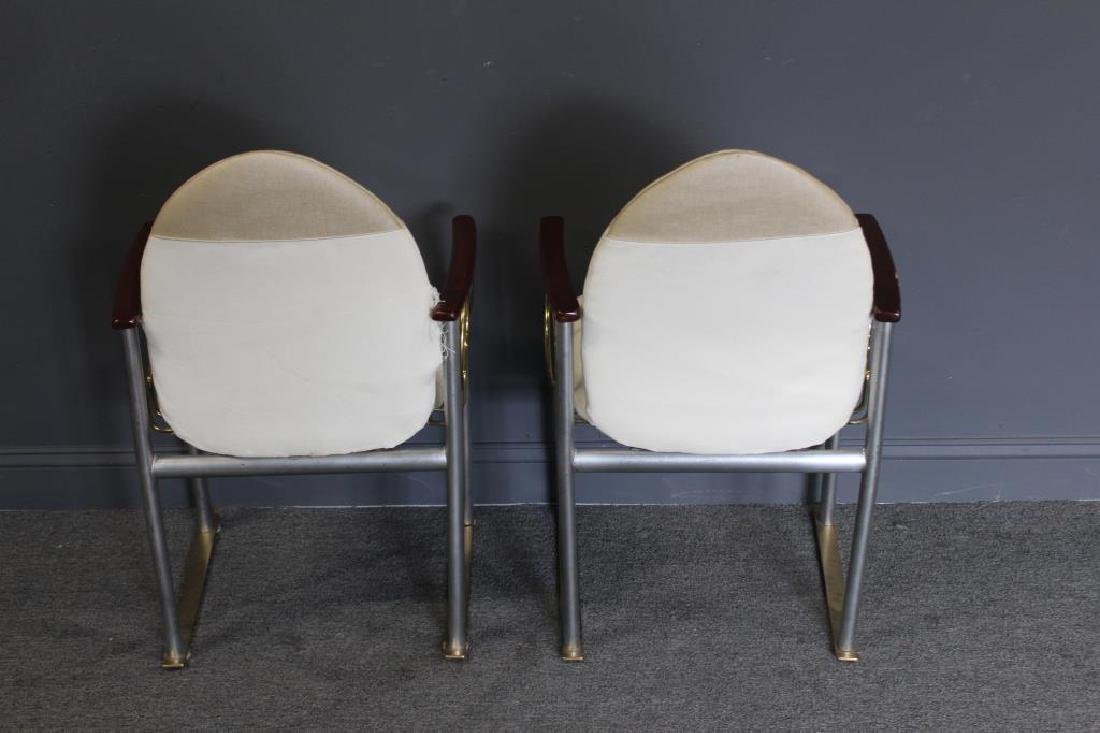 MIDCENTURY. Pair of Memphis Style Brass and Steel - 4