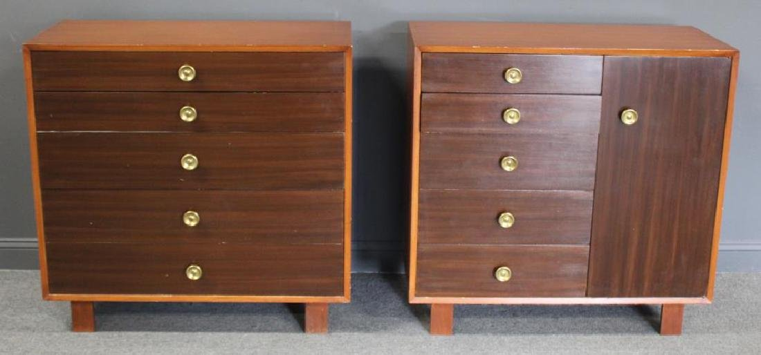 MIDCENTURY. A Matched Pair of George Nelson Chests