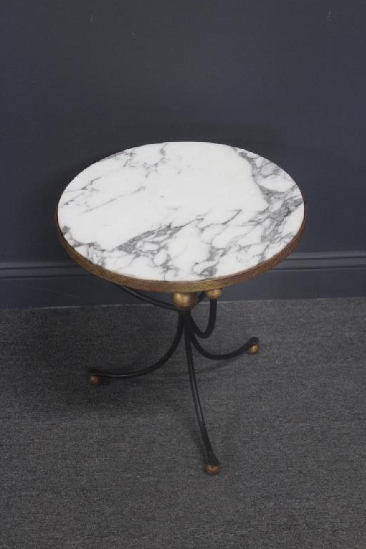 Midcentury Palladio Marble Top Table.