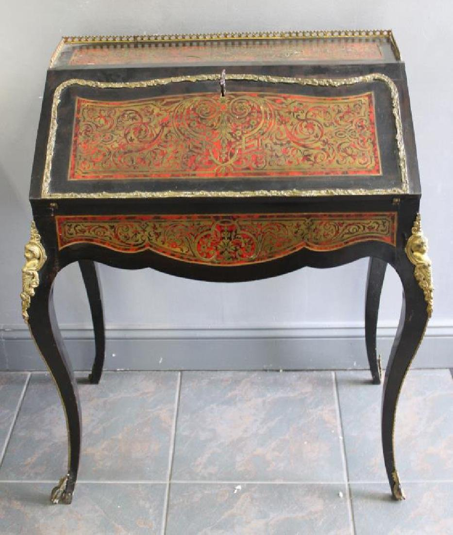 Antique French Boulle Ladies Writing Desk.