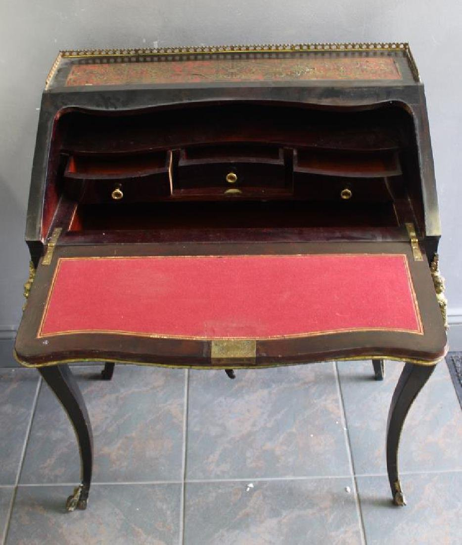 Antique French Boulle Ladies Writing Desk. - 2