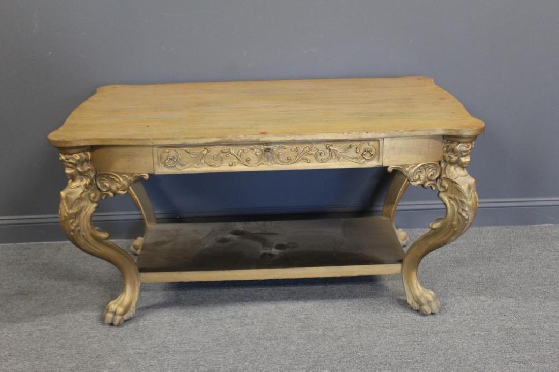 Possibly Horner Figural Carved Desk.