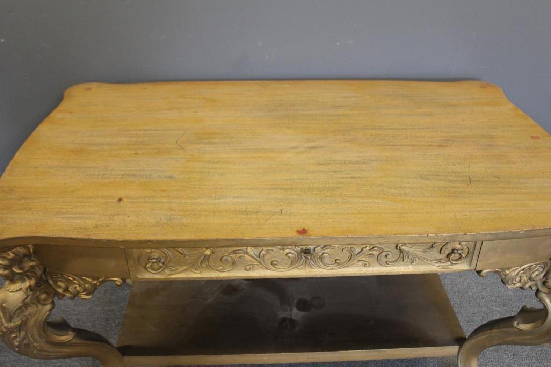 Possibly Horner Figural Carved Desk. - 3