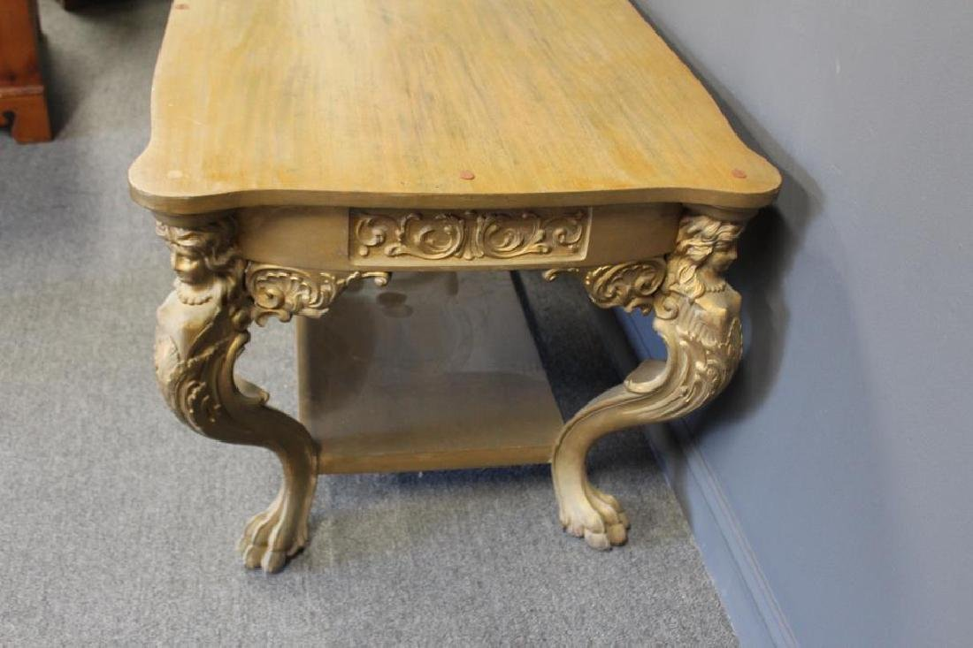 Possibly Horner Figural Carved Desk. - 4