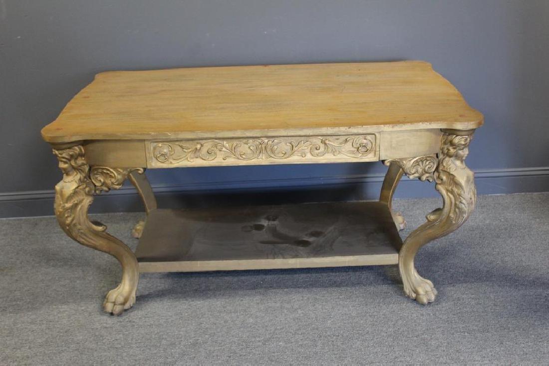 Possibly Horner Figural Carved Desk. - 6