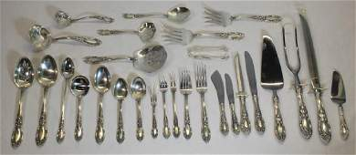 STERLING. Towle King Richard Flatware Service.
