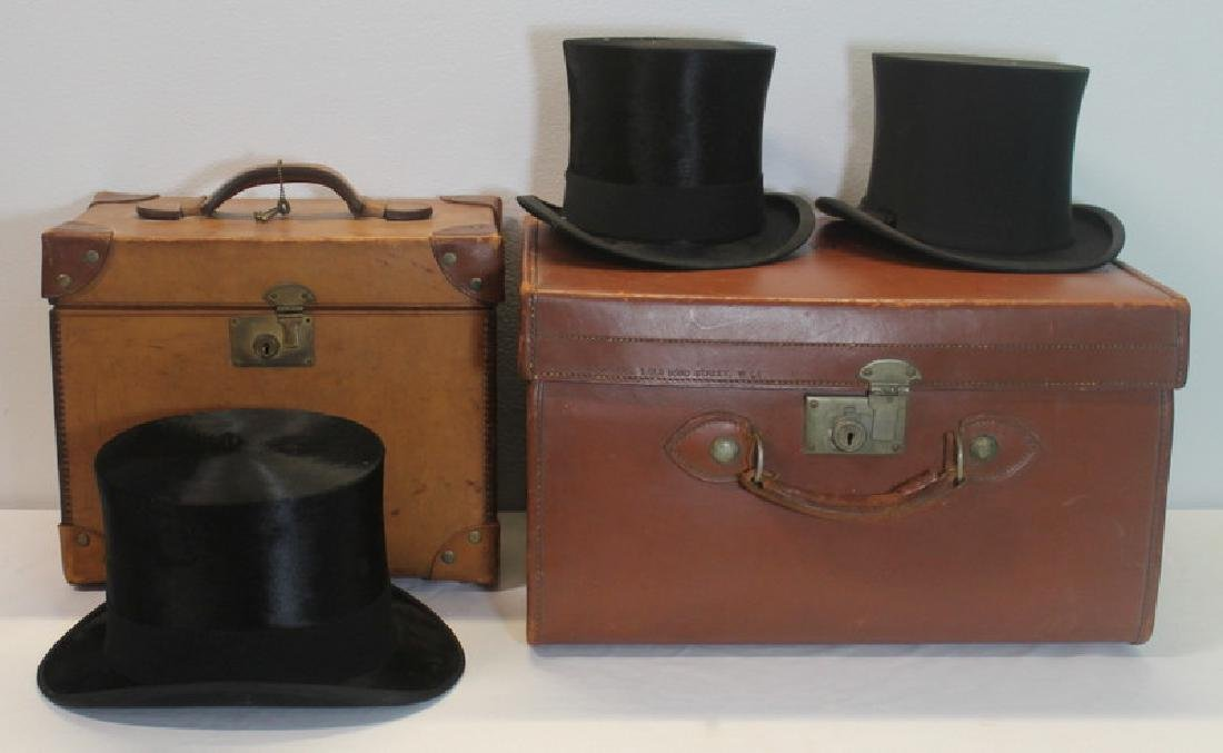 Grouping of Vintage Top Hats.