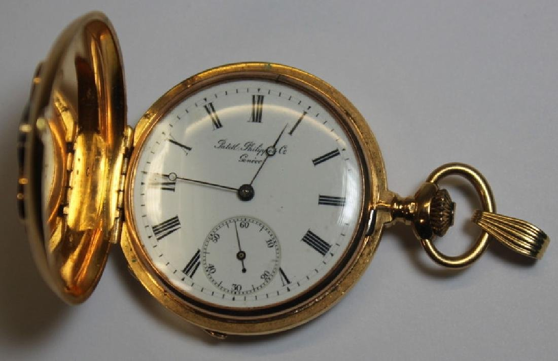 JEWELRY. Patek Philippe & Co 18kt Gold Pocket