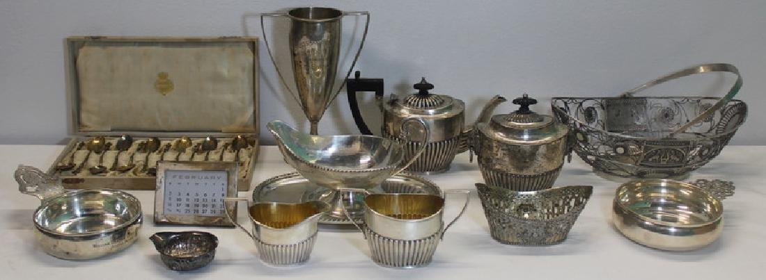 SILVER. Grouping of Assorted Silver Hollow Ware.