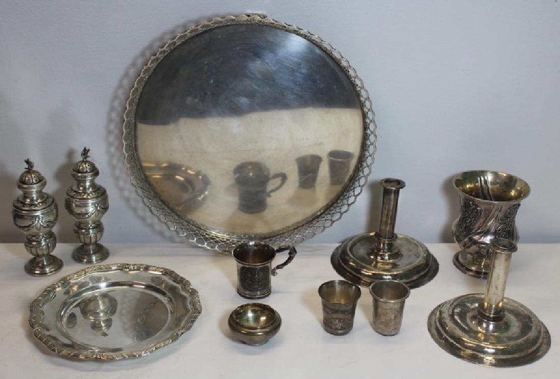 SILVER. Assorted Grouping of Silver Items.