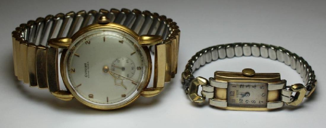 JEWELRY. Glycine Gold Watch Grouping.