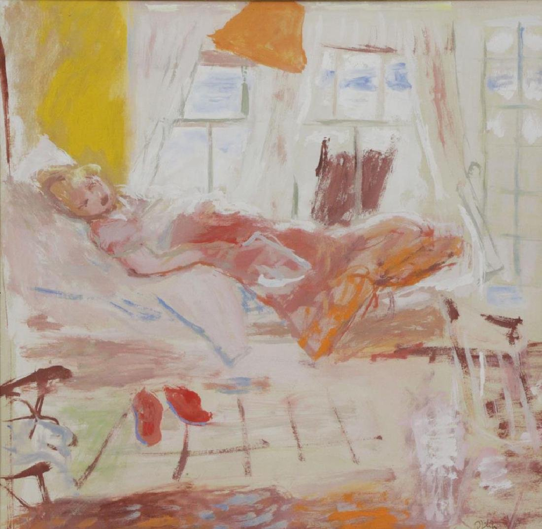 PHILIPP, Robert. Gouache on Paper. Woman in Repose