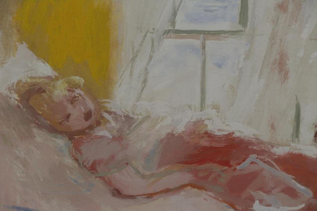 PHILIPP, Robert. Gouache on Paper. Woman in Repose - 3
