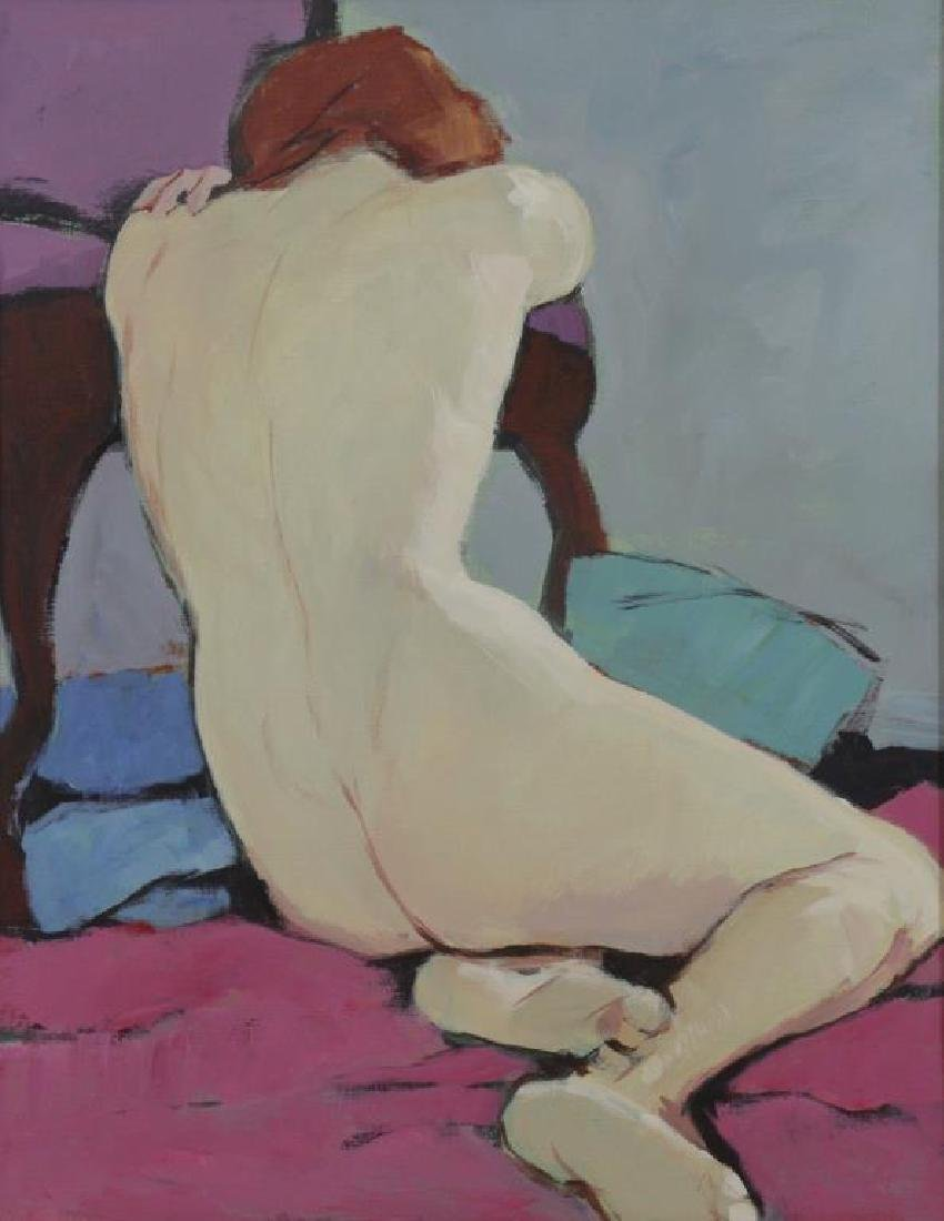 LESSER, Mimi Korach. Oil on Canvas. Nude.
