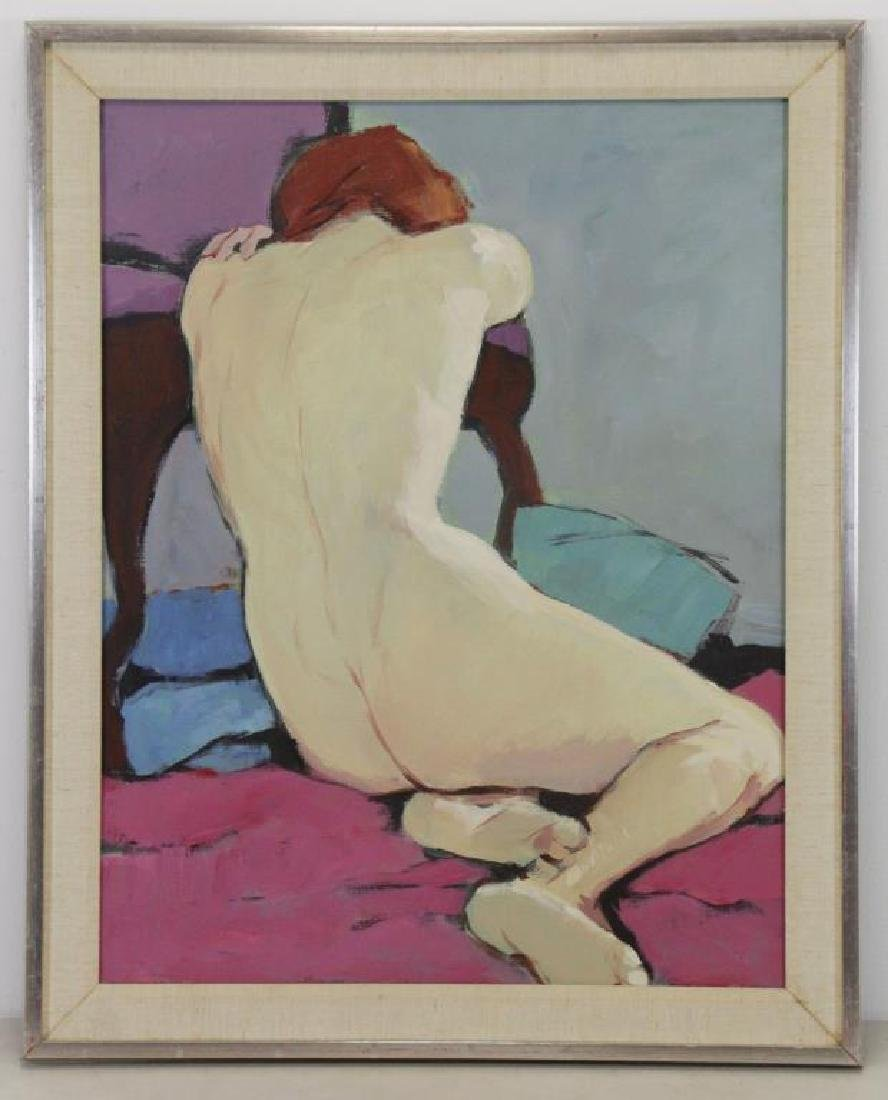 LESSER, Mimi Korach. Oil on Canvas. Nude. - 2