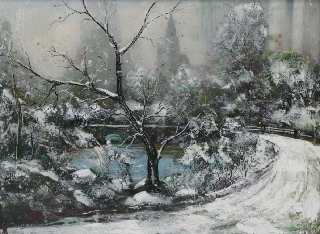 DOLICE, Leon. Oil on Canvas. Central Park.