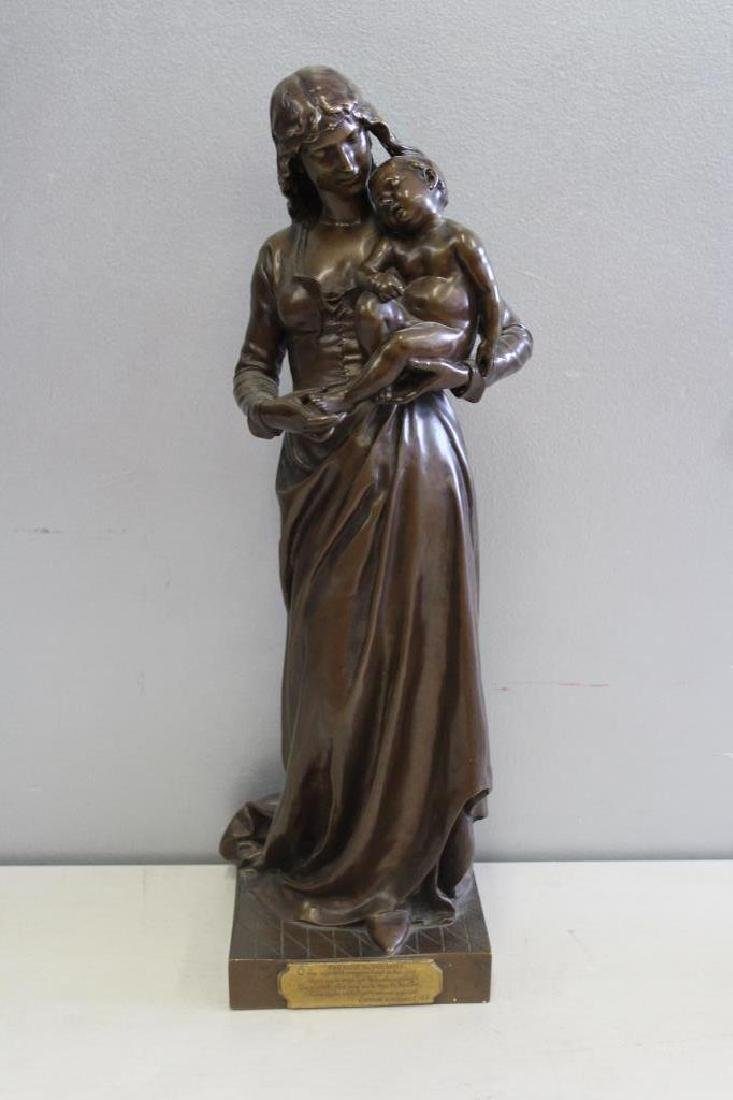 GAUTHERIN,Jean. Signed Bronze CLOTILDE DE SURVILL