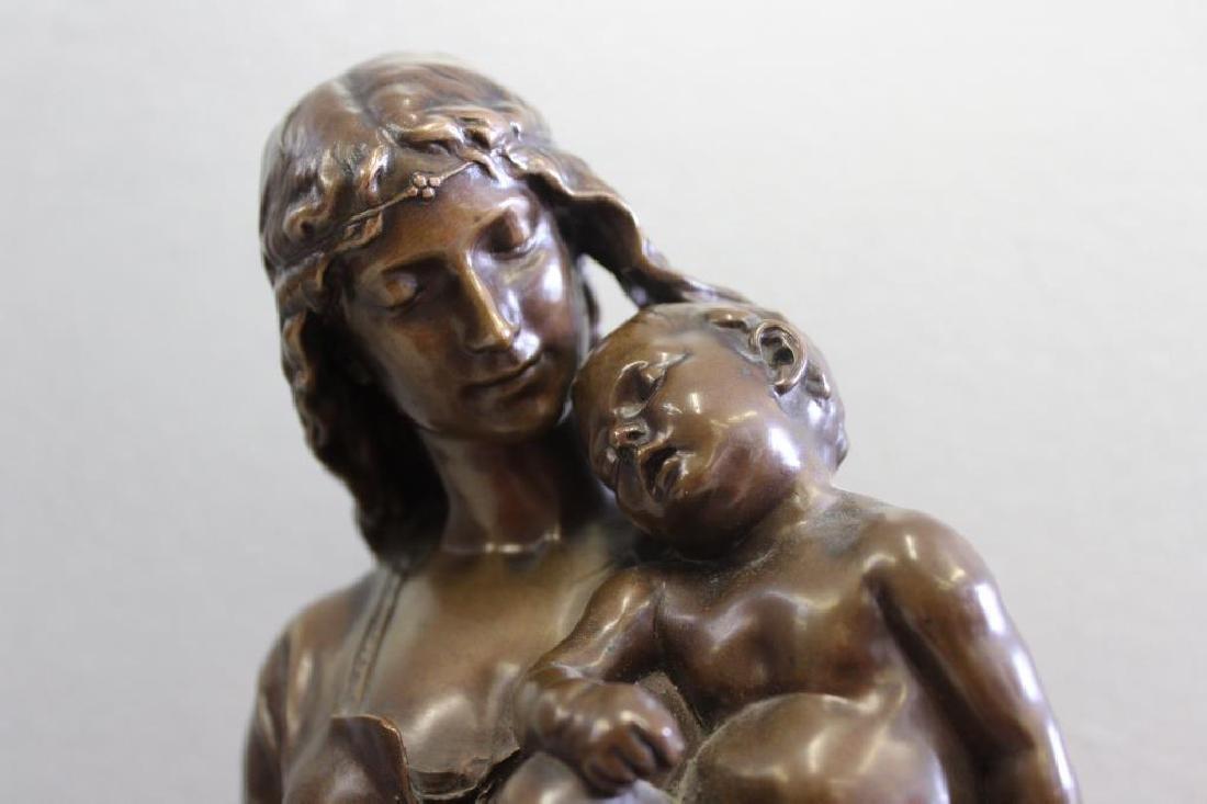 GAUTHERIN,Jean. Signed Bronze CLOTILDE DE SURVILL - 2