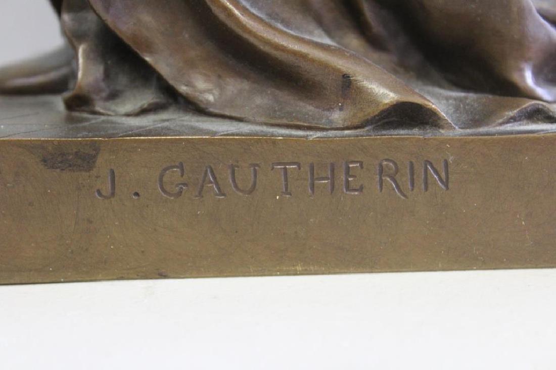 GAUTHERIN,Jean. Signed Bronze CLOTILDE DE SURVILL - 4
