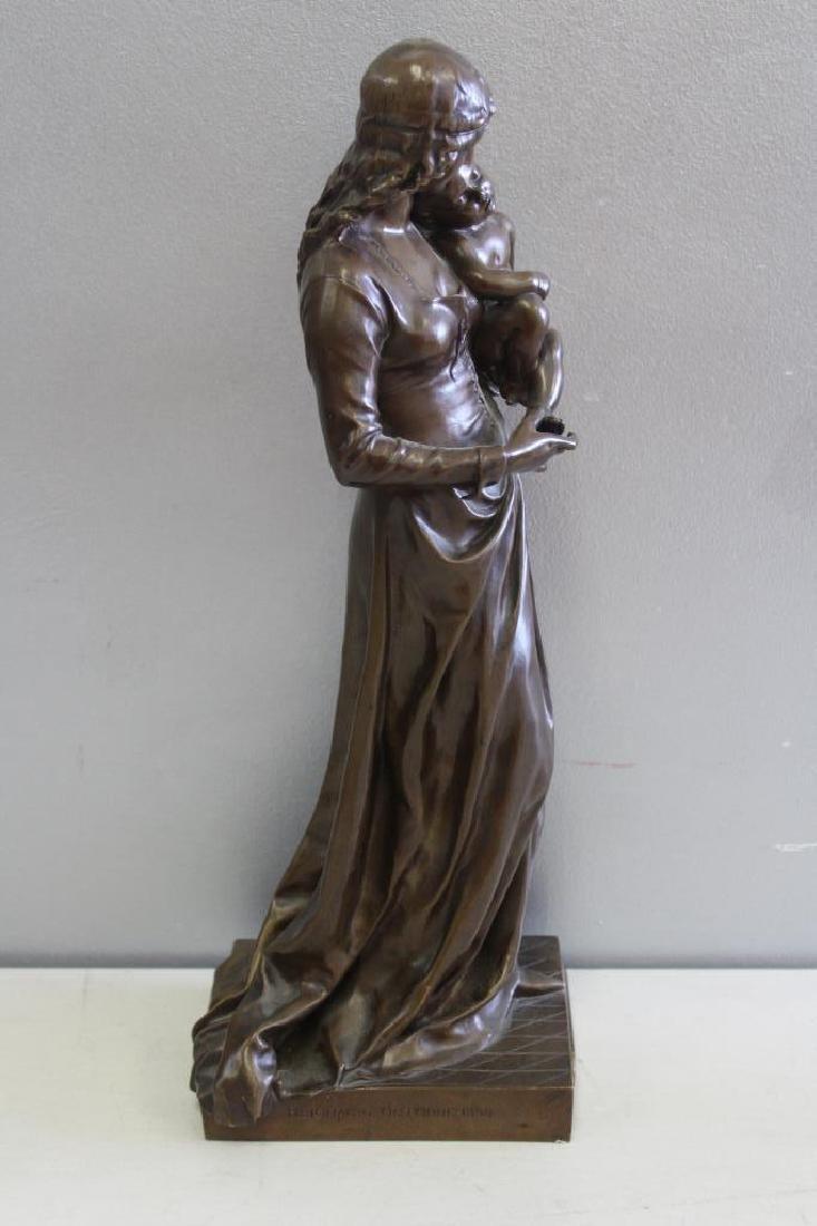 GAUTHERIN,Jean. Signed Bronze CLOTILDE DE SURVILL - 8