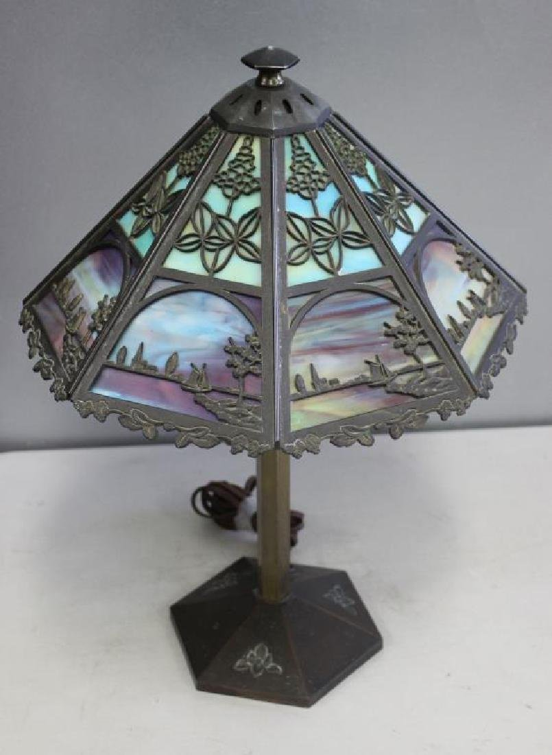 Bradley and Hubbard Tiffany Style Table Lamp