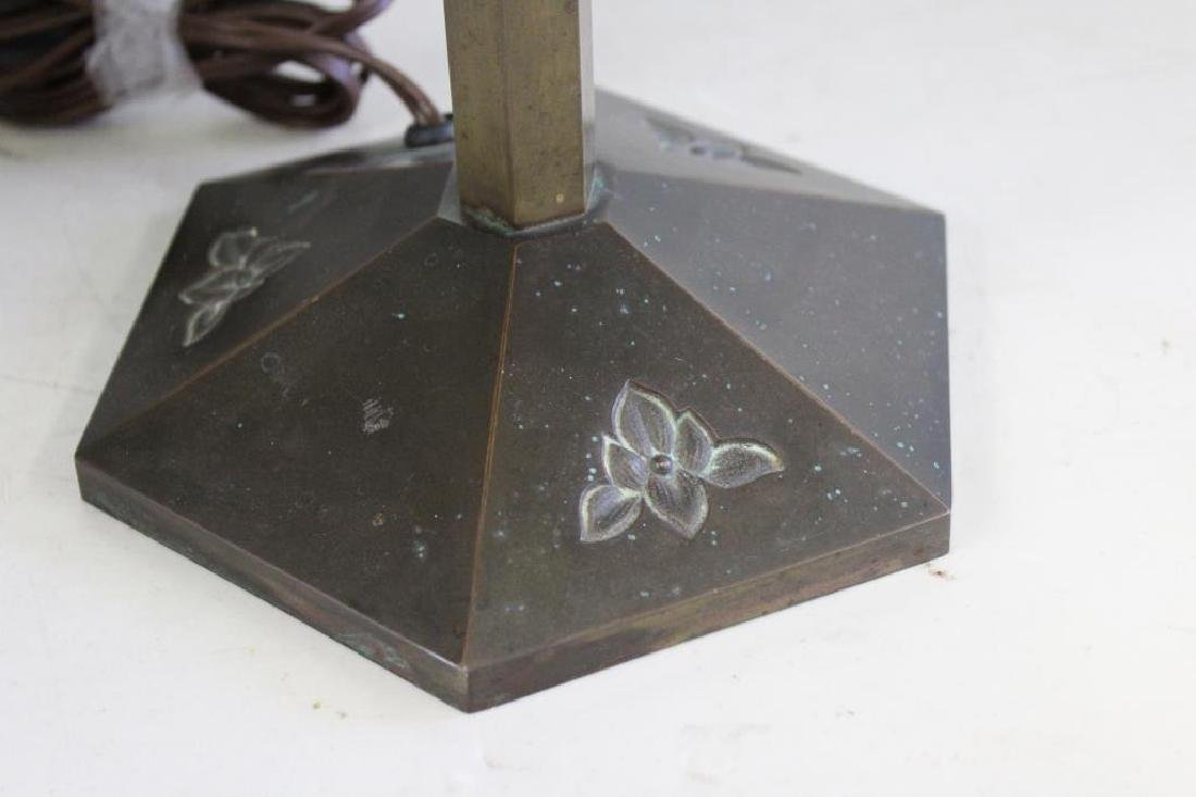 Bradley and Hubbard Tiffany Style Table Lamp - 4