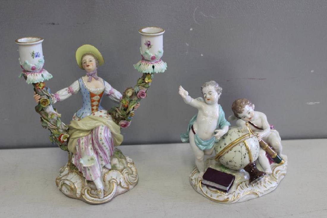 MEISSEN  Lot Of 2 Porcelains to inc .