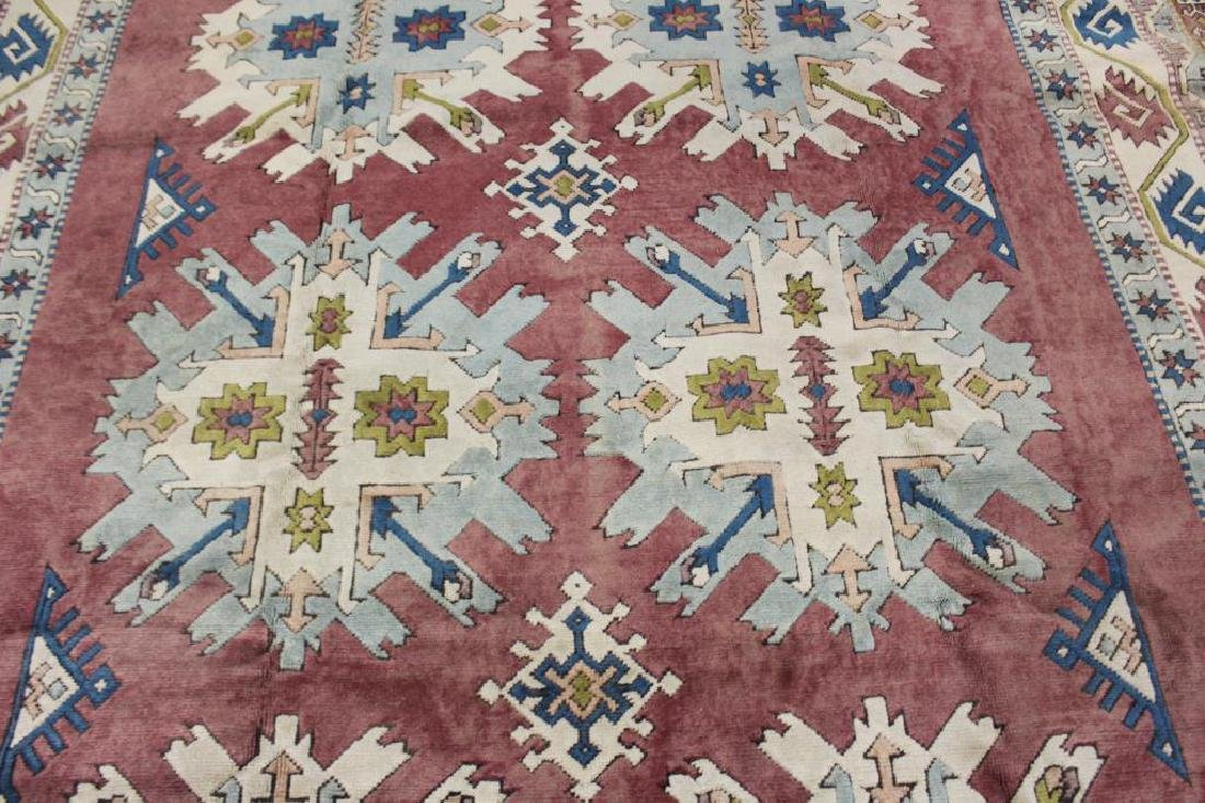 Vintage and Finely Handwoven Kazak Style - 3