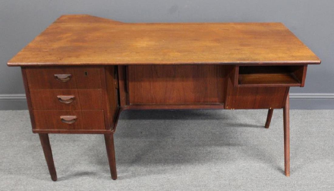 MIDCENTURY Desk With Tambour Front.