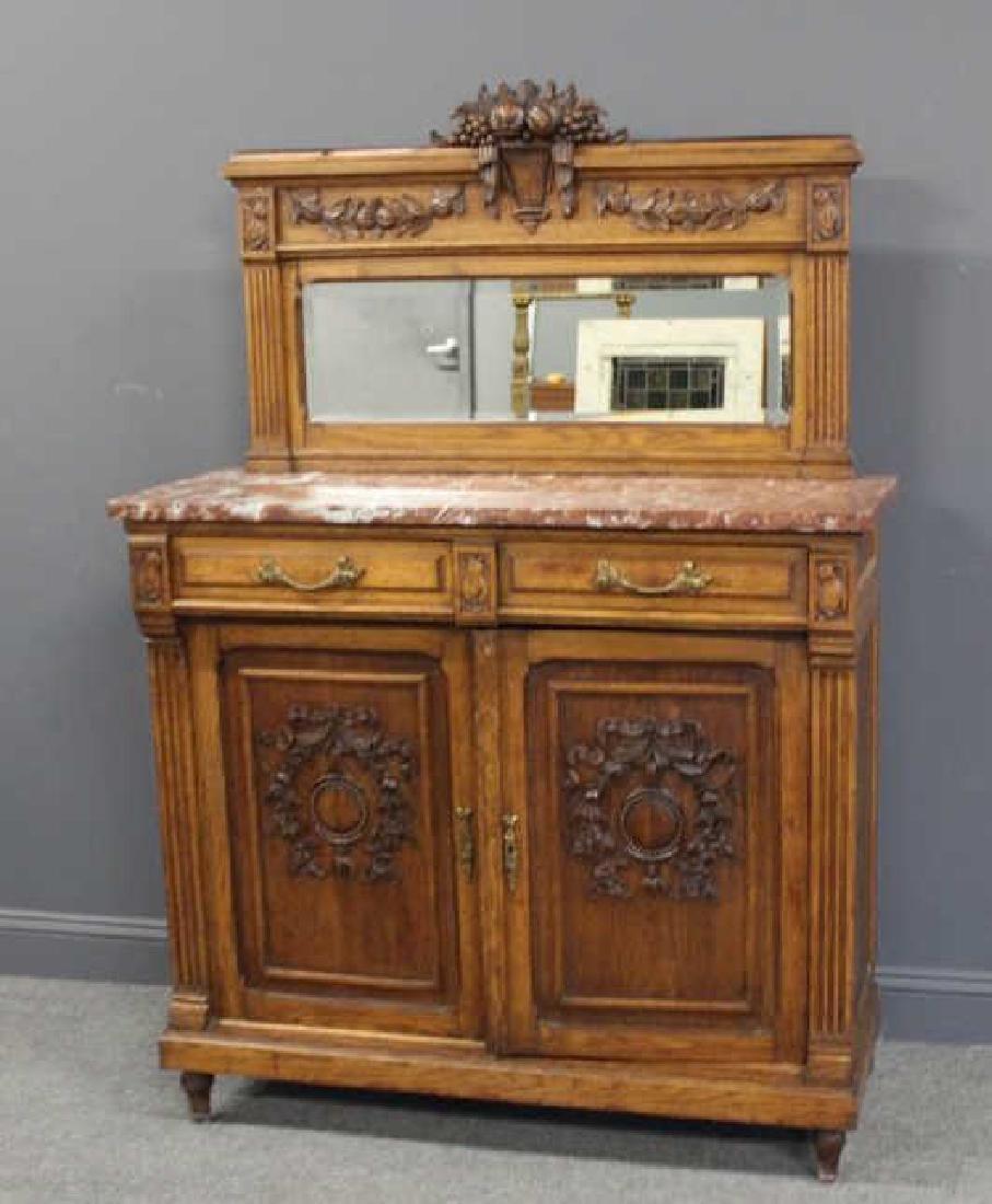 Antique Louis XVI Style Marbletop Server /