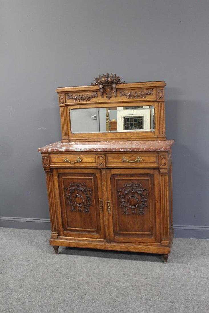 Antique Louis XVI Style Marbletop Server / - 2