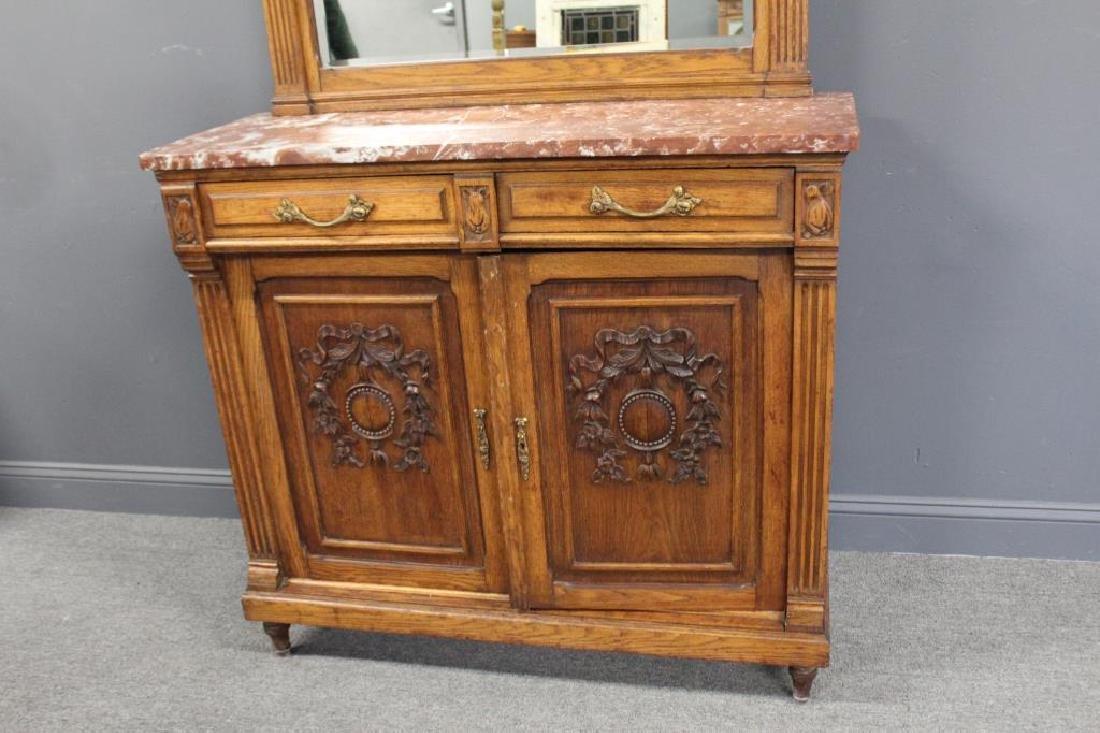 Antique Louis XVI Style Marbletop Server / - 3