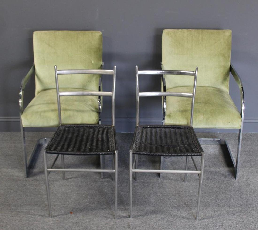 MIDCENTURY. Pair of Chrome Chairs Together with