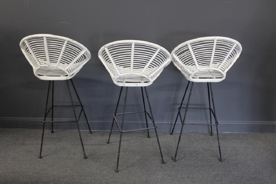 MIDCENTURY. 3 Swivel Stools Together with a - 4