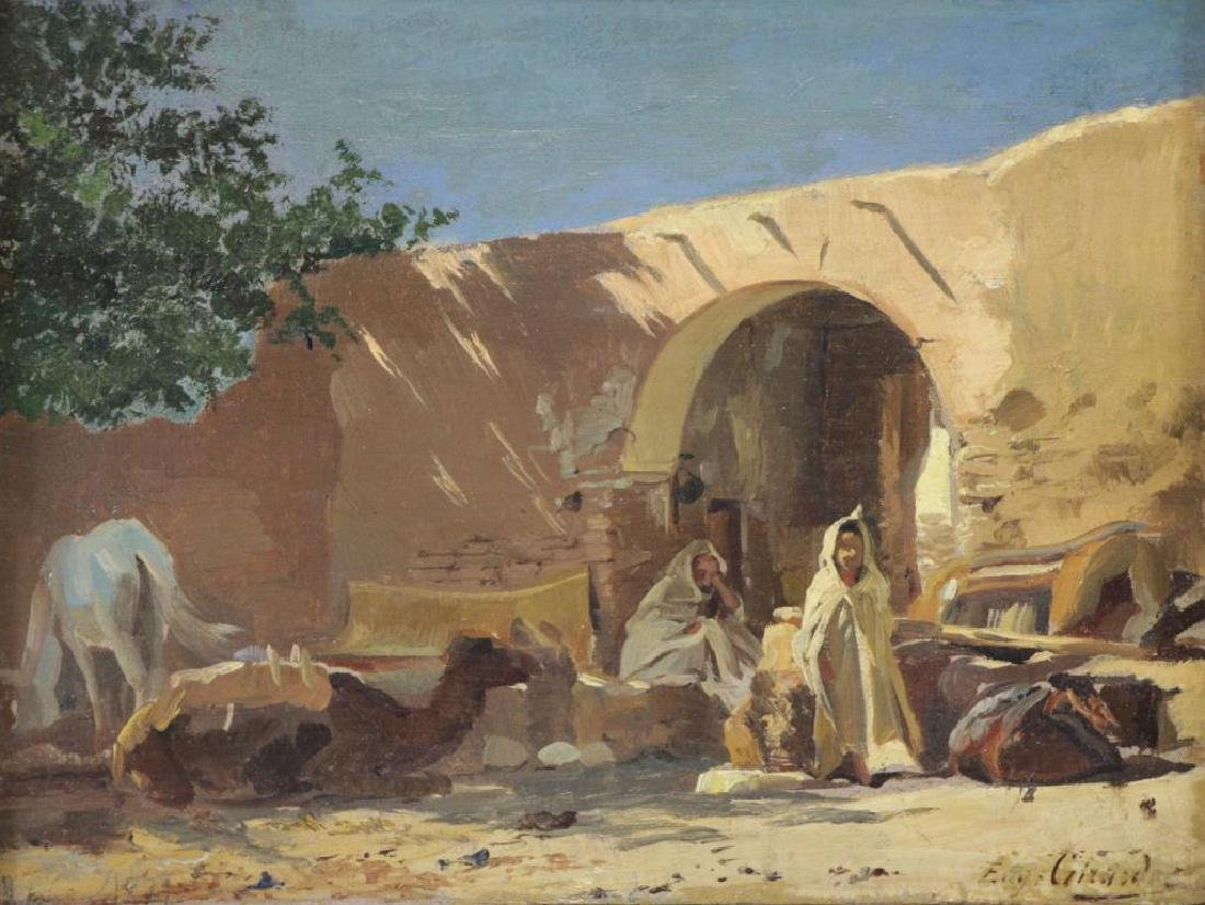 GIRARDET, Eugene. Oil on Canvas. Orientalist Scene
