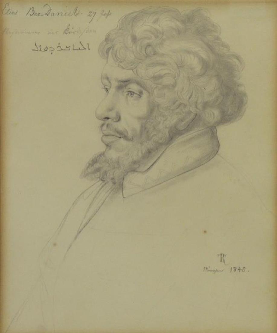 REHBENITZ, Theodor. Pencil on Paper. Portrait of