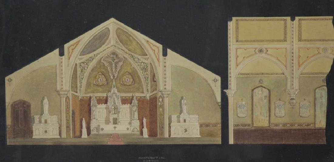 Paint Craft Inc. Watercolor Drawing of a Church
